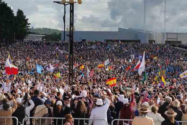 406 grupos de peregrinos no Santuário hoje